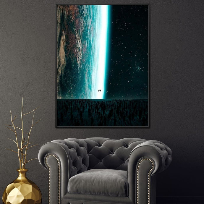 Earth Edge - Alexgraphex Multi Panel Canvas Wall Art - NicheCanvas