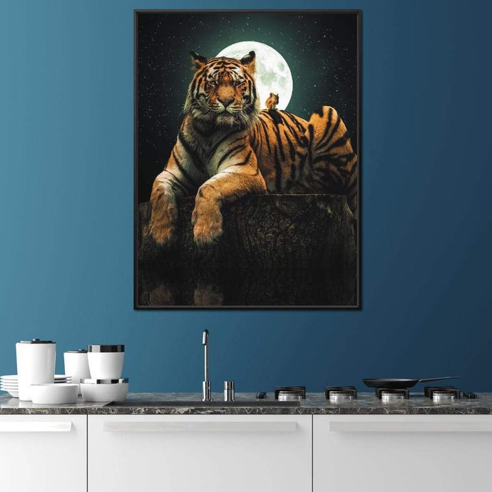 Tiger Squirel - Zenzdesign Multi Panel Canvas Wall Art - NicheCanvas