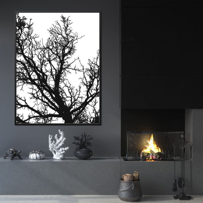 Black & White Tree v2 - Andy Brackpool - NicheCanvas