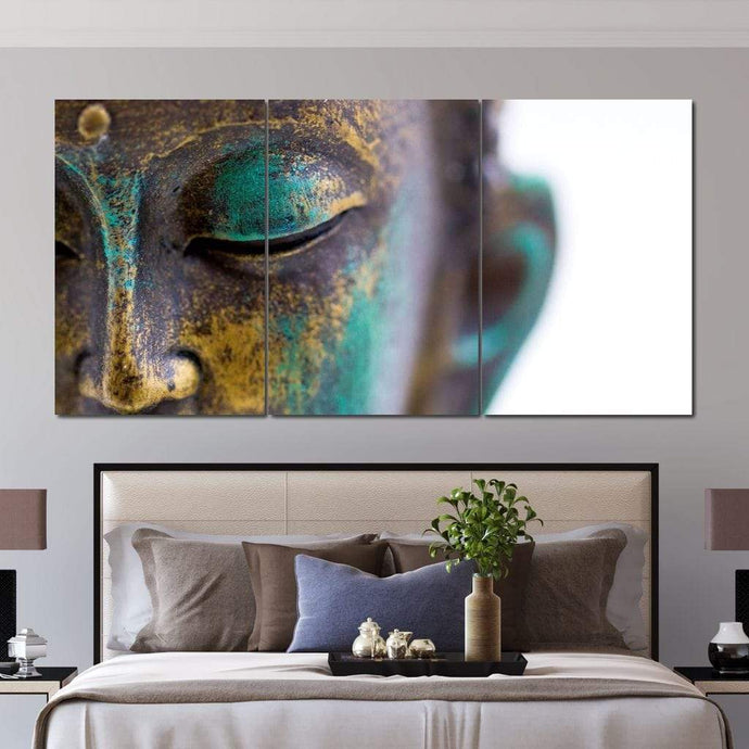 Buddha 3 Panels Set Multi Panel Canvas Wall Art - NicheCanvas