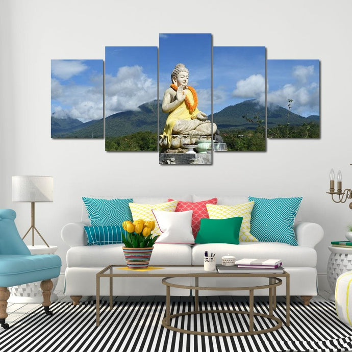 Buddha Landscape Multi Panel Canvas Wall Art - NicheCanvas