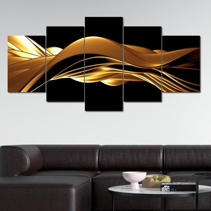 Golden Wave - NicheCanvas