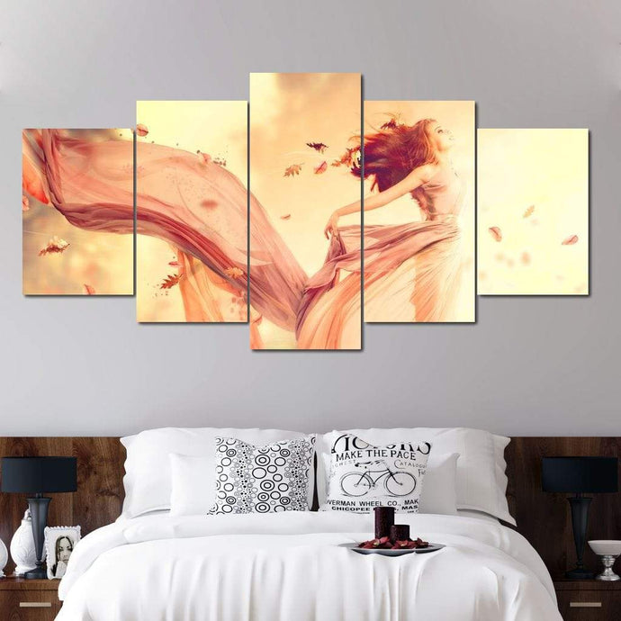 Autumn Fairy Multi Panel Canvas Wall Art - NicheCanvas