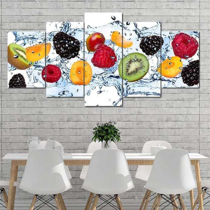 Fresh Fruits Multi Panel Canvas Wall Art - NicheCanvas