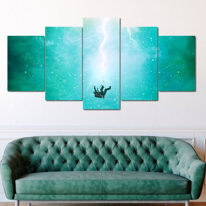Falling Outta Space - Alexgraphex Multi Panel Canvas Wall Art - NicheCanvas