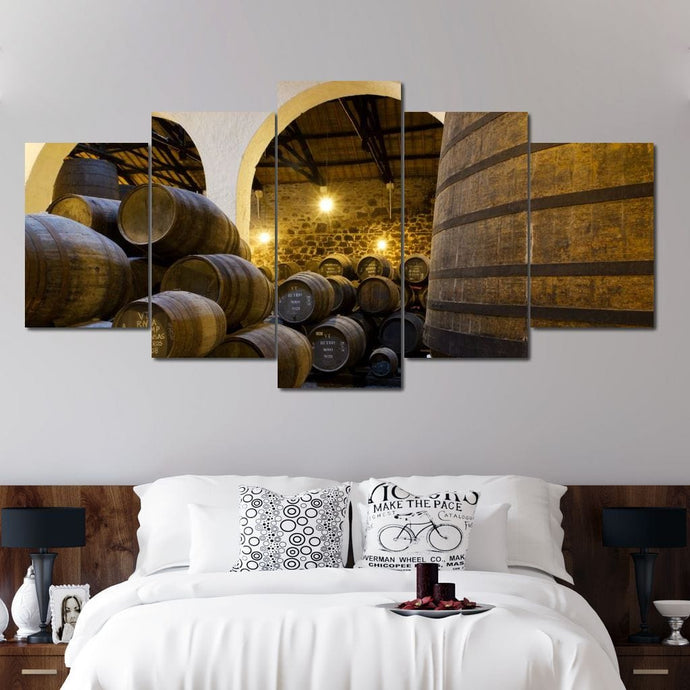 Aging Wine Multi Panel Canvas Wall Art - NicheCanvas