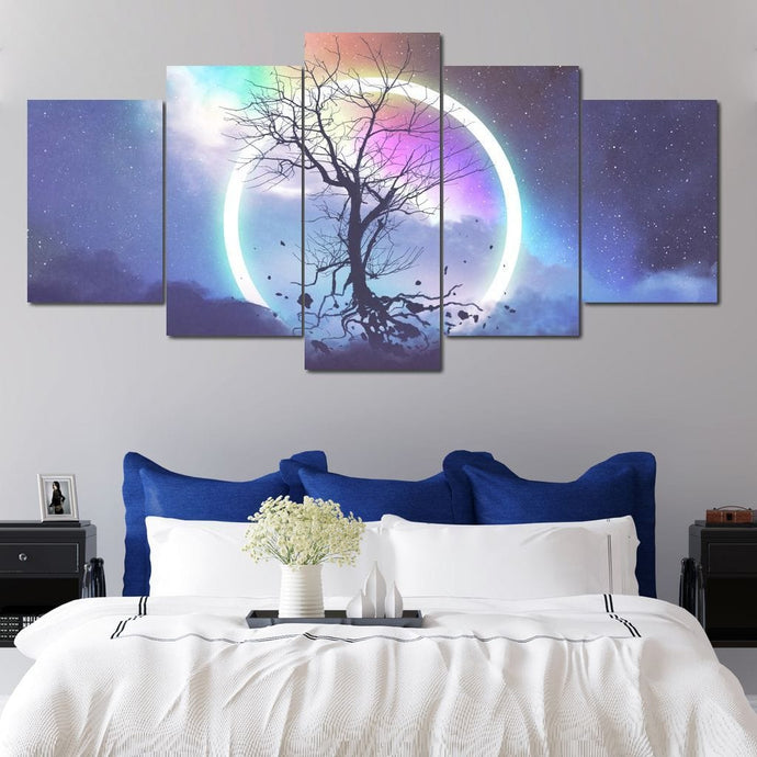 Astral Tree Multi Panel Canvas Wall Art - NicheCanvas