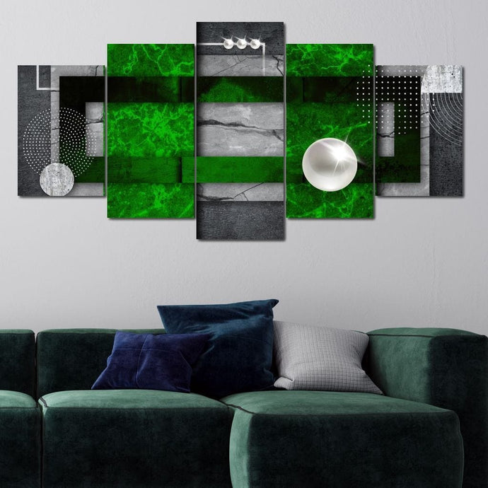 Abstract Lines Green - Mateusz - NicheCanvas