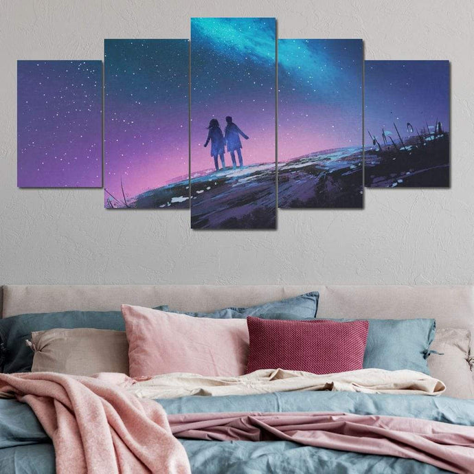 Holding Hands Multi Panel Canvas Wall Art - NicheCanvas