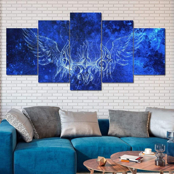 Ornamental Phoenix Multi Panel Canvas Wall Art - NicheCanvas