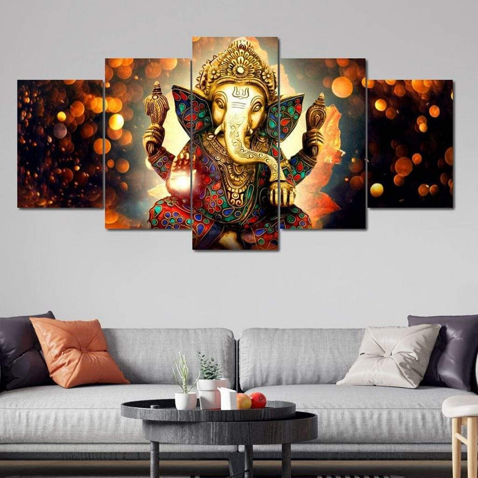 The Hindu God Ganesh - Limited Edition Huge Canvas