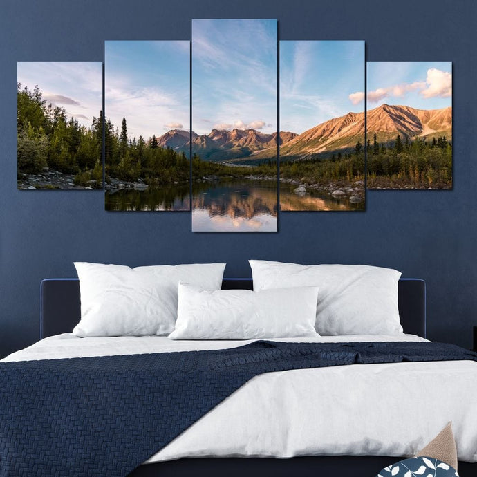Alaskan Reflection - Lucas Moore Huge Canvas