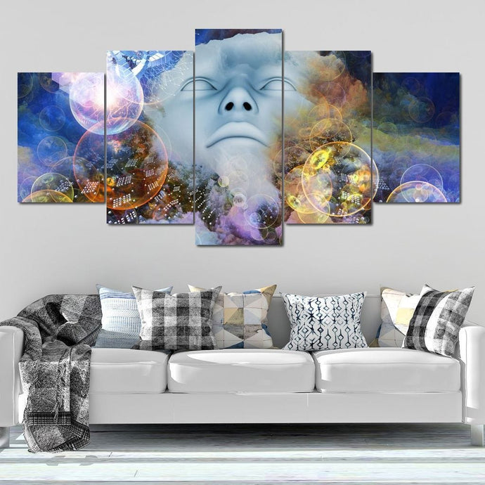 Psychedelic Thinking Multi Panel Canvas Wall Art - NicheCanvas