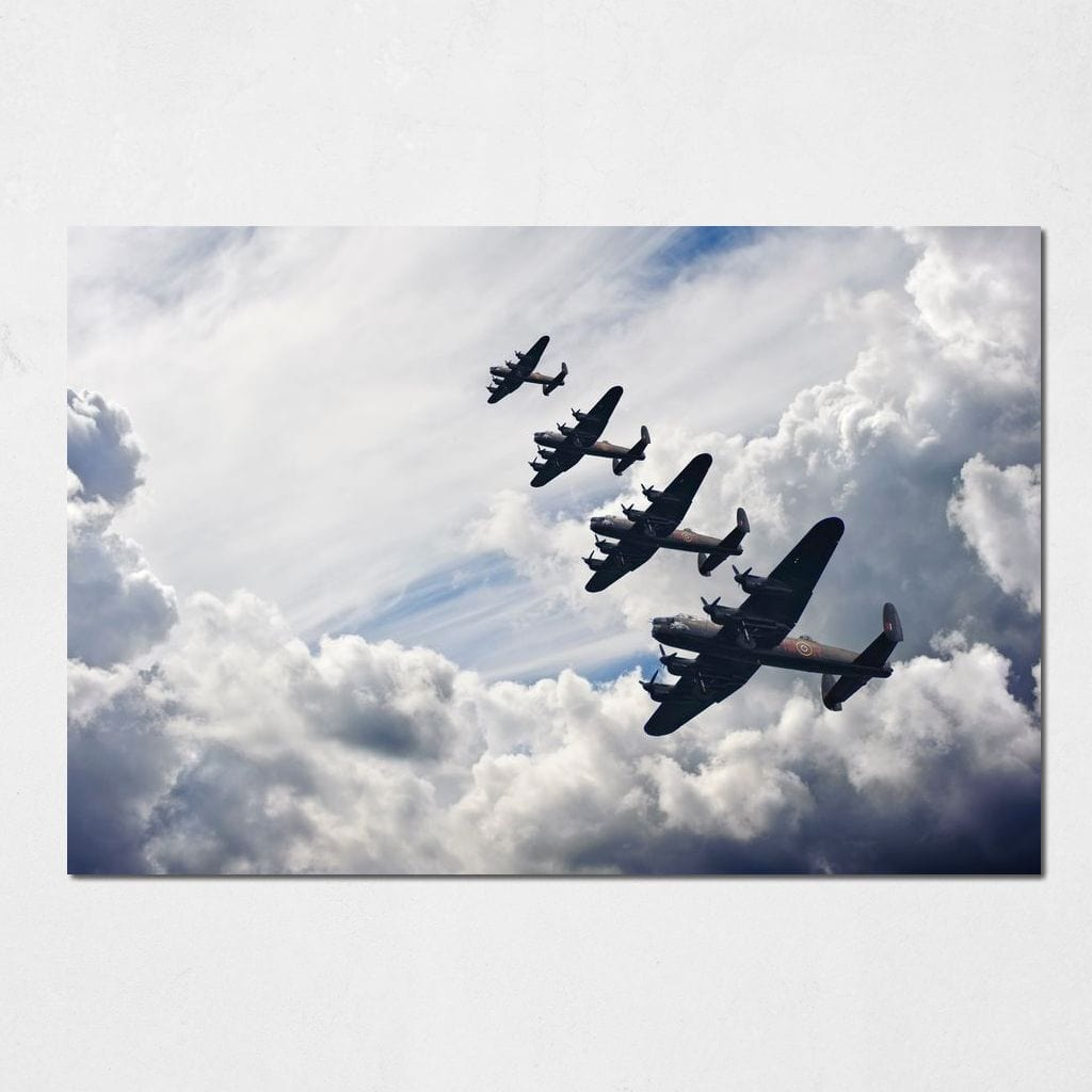 British Bombers Formation Small Canvas