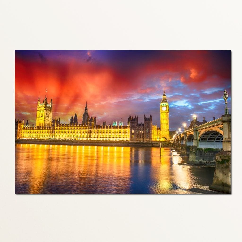Palace of Westminster Small Canvas
