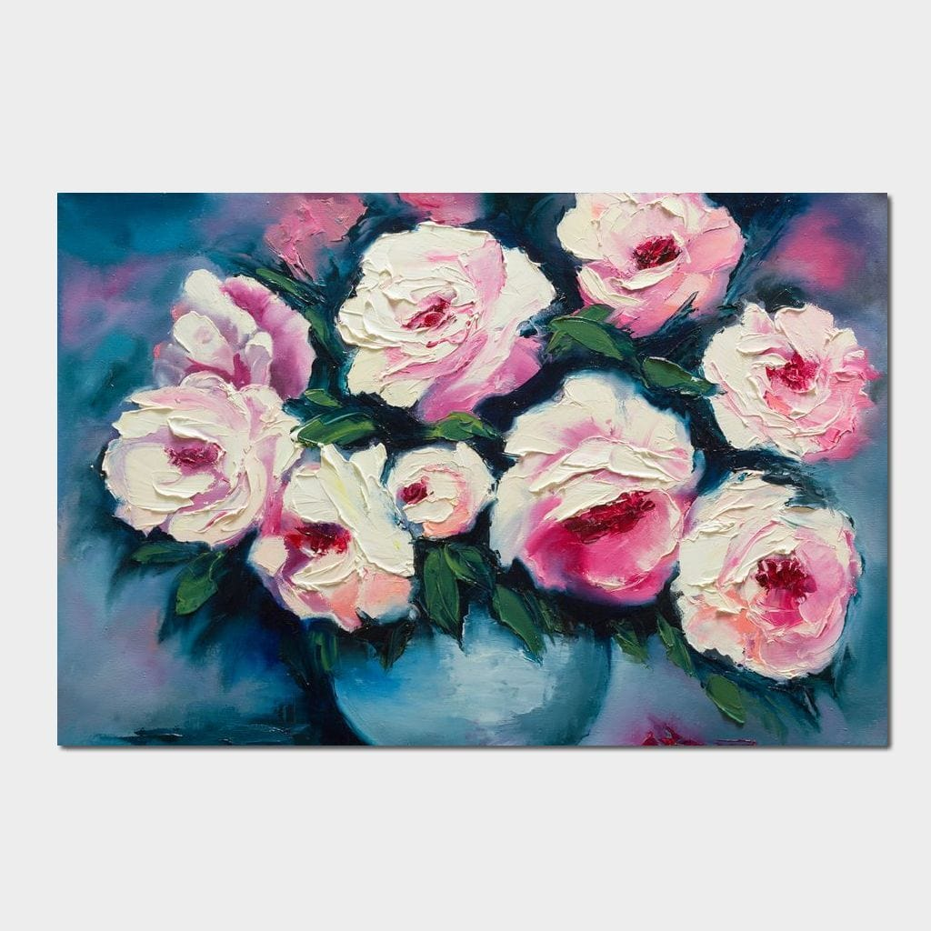 Beautiful Peonies Small Canvas
