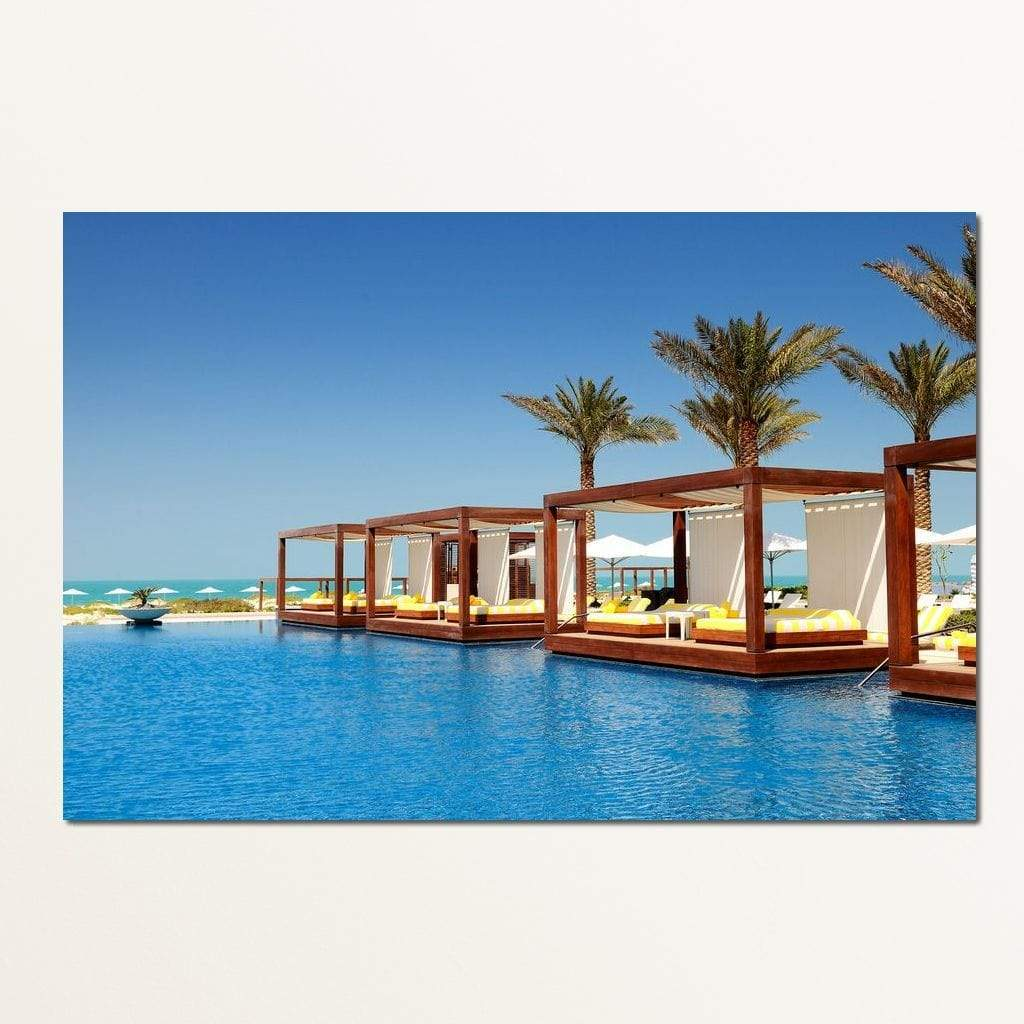 Luxury Pool Beds Multi Panel Canvas Wall Art - NicheCanvas