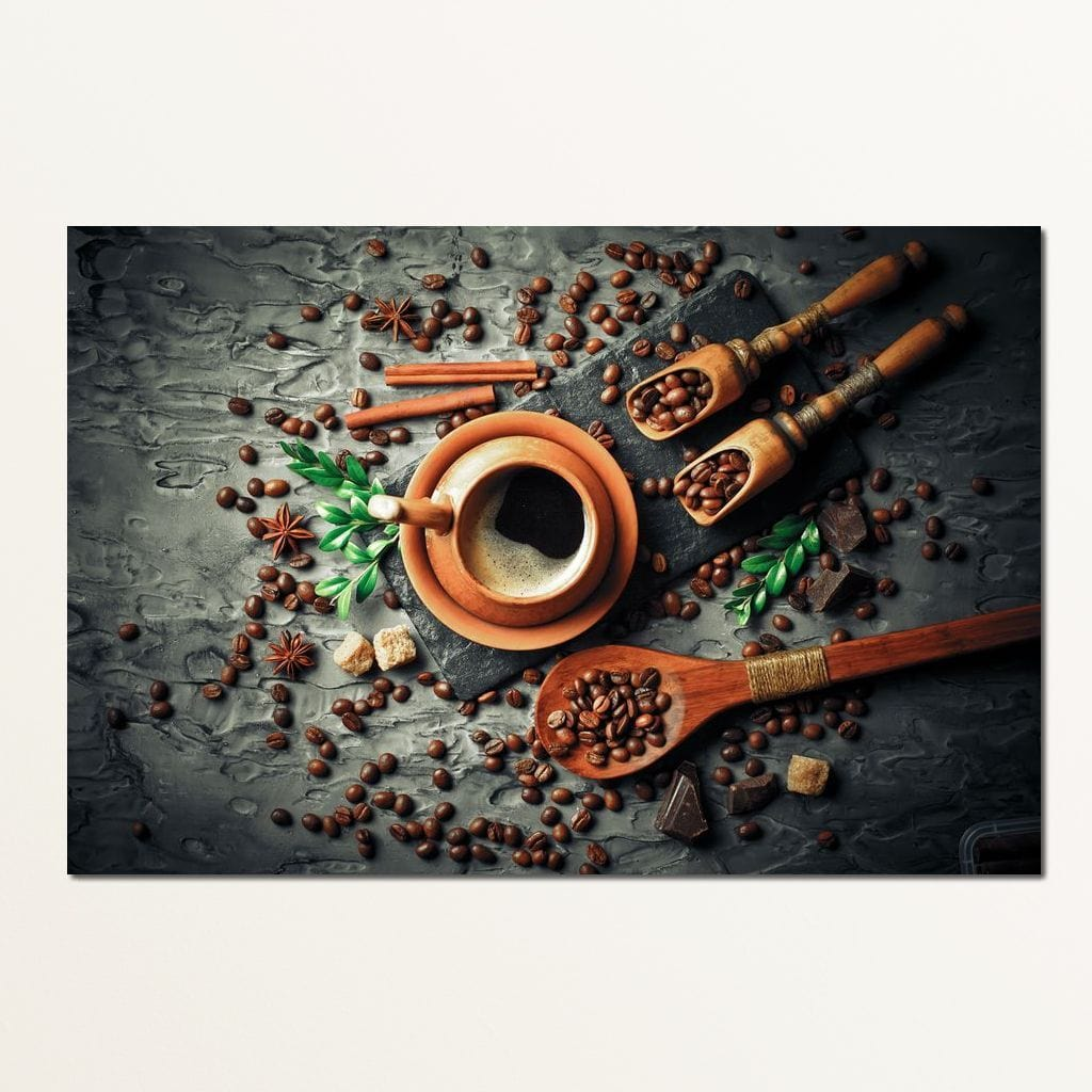 Coffee Aficionado Multi Panel Canvas Wall Art - NicheCanvas