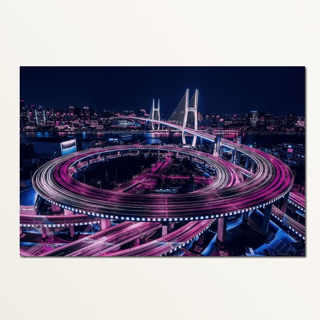 Beijing Nights - Johanjjf Multi Panel Canvas Wall Art - NicheCanvas