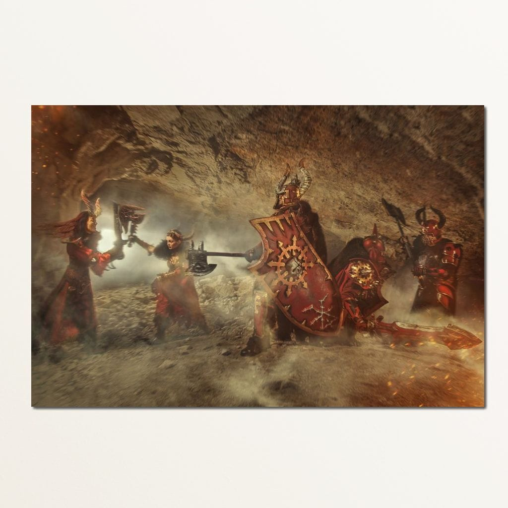 Dungeon Warriors Multi Panel Canvas Wall Art - NicheCanvas