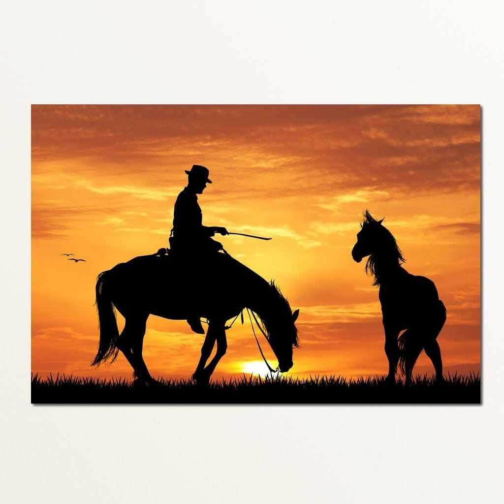 Horse Training Multi Panel Canvas Wall Art - NicheCanvas