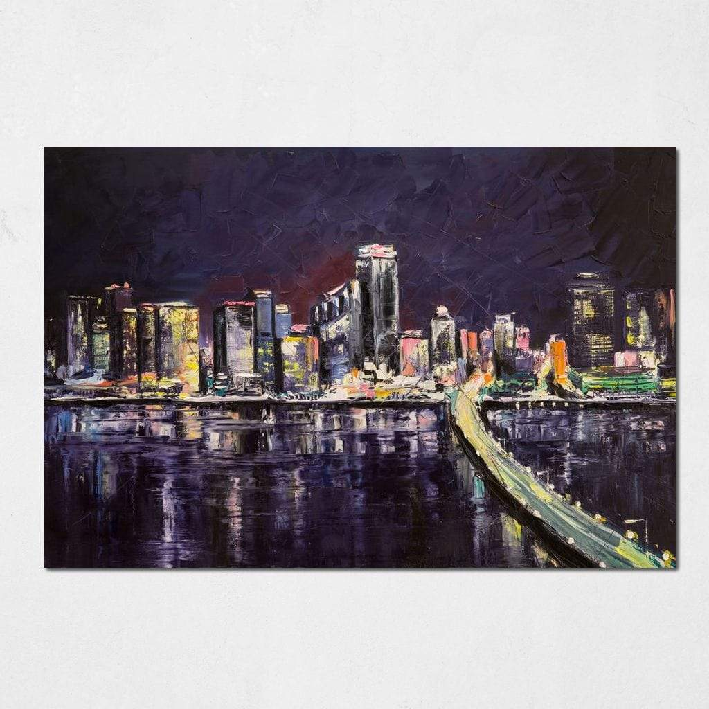Flourishing City Small Canvas