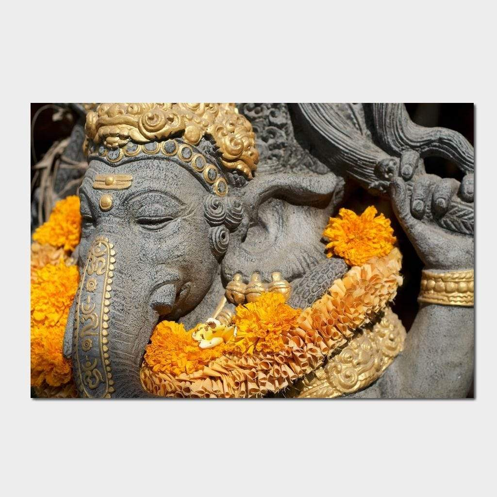Ganesh Statue In Bali Small Canvas