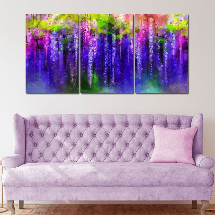 Abstract Violet - NicheCanvas