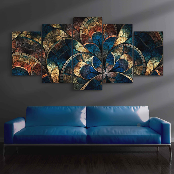 Abstract Art Canvas Multi Panel Canvas Wall Art - NicheCanvas