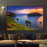 Load image into Gallery viewer, Boats Watching The Sunset Multi Panel Canvas Wall Art - NicheCanvas