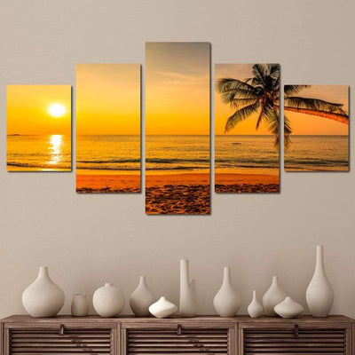 Tropical Sunset - NicheCanvas