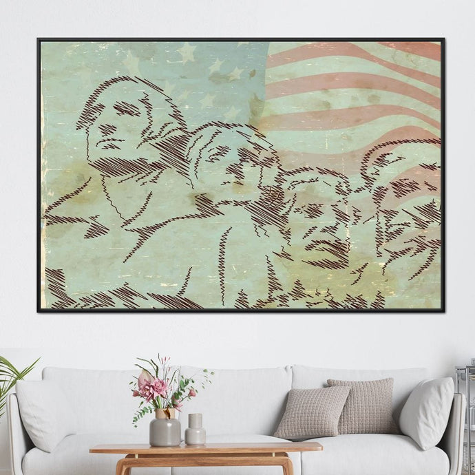 The Founding Fathers Multi Panel Canvas Wall Art - NicheCanvas