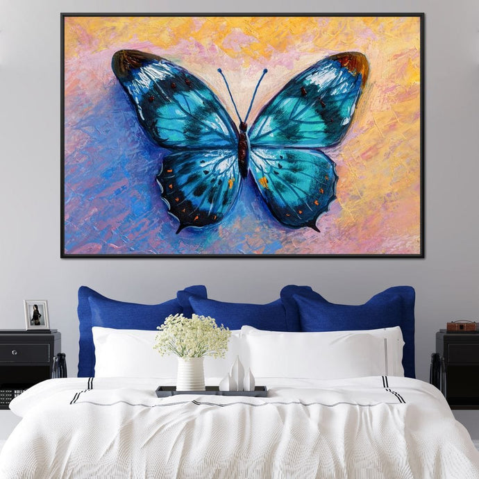 Light Blue Butterfly - NicheCanvas