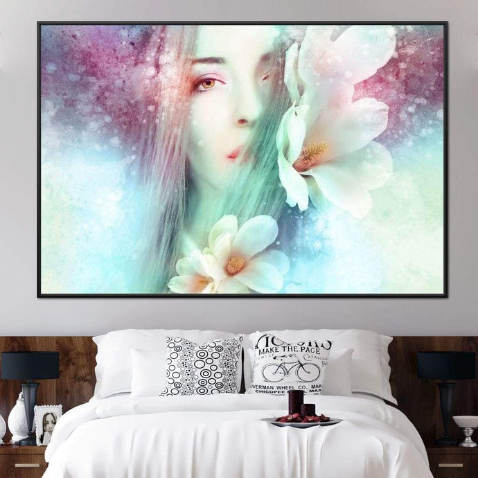 Spring Lady Multi Panel Canvas Wall Art - NicheCanvas