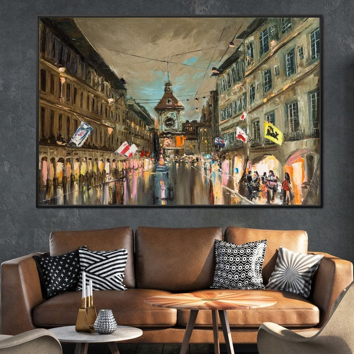 European City Multi Panel Canvas Wall Art - NicheCanvas