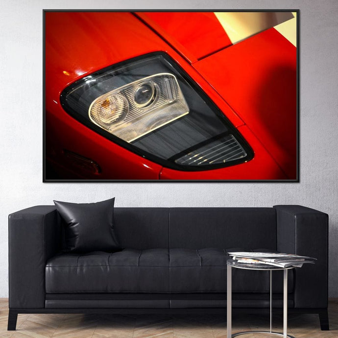 Classic Supercar Headlight Multi Panel Canvas Wall Art - NicheCanvas