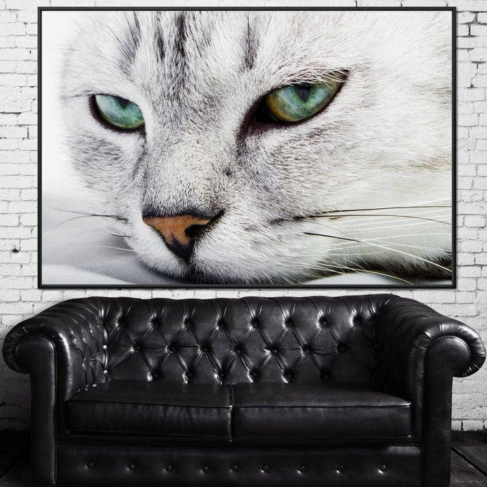 Cat Relaxing Multi Panel Canvas Wall Art - NicheCanvas