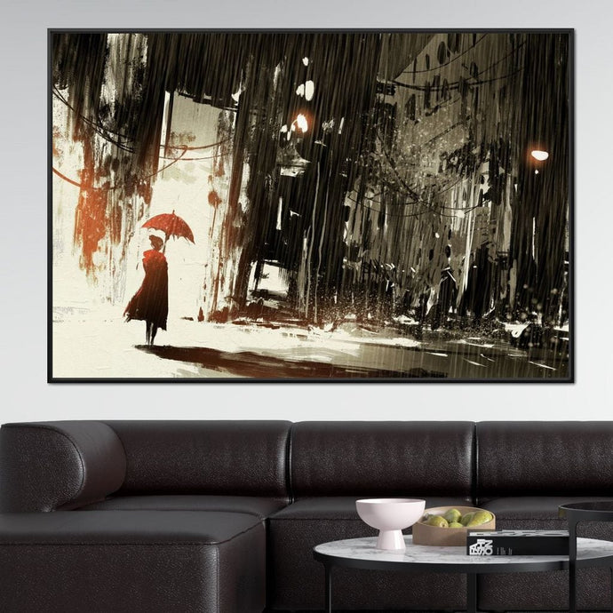 Halelis Rainy Day Multi Panel Canvas Wall Art - NicheCanvas