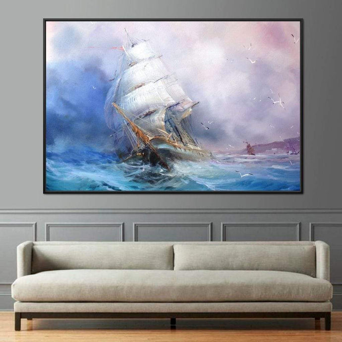 Trading Ship Multi Panel Canvas Wall Art - NicheCanvas