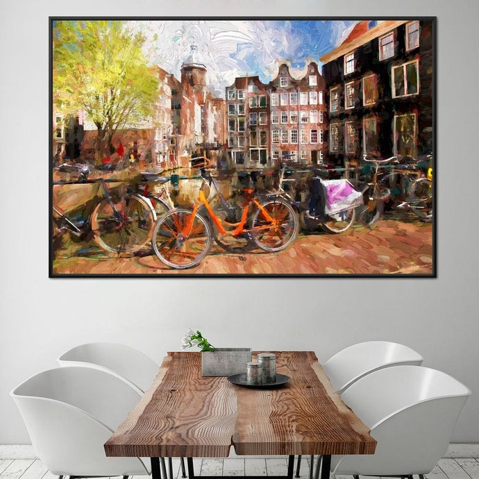 Amsterdam City Multi Panel Canvas Wall Art - NicheCanvas