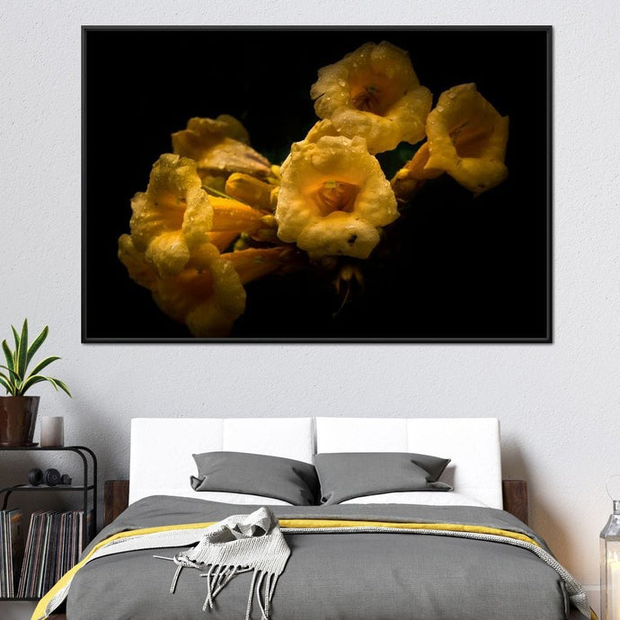 Yellow Flowers - Brian Carson Multi Panel Canvas Wall Art - NicheCanvas