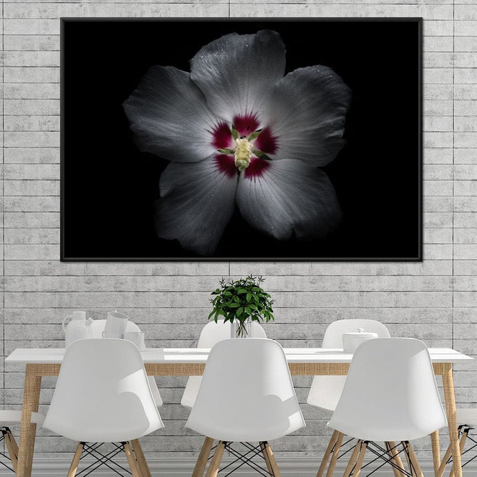 Backyard Flowers Color Version - Brian Carson Multi Panel Canvas Wall Art - NicheCanvas