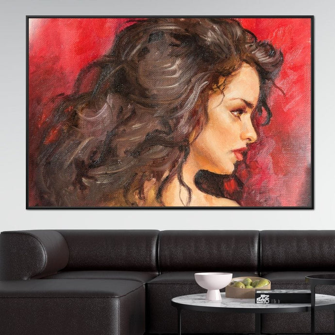 Selena Portrait Multi Panel Canvas Wall Art - NicheCanvas
