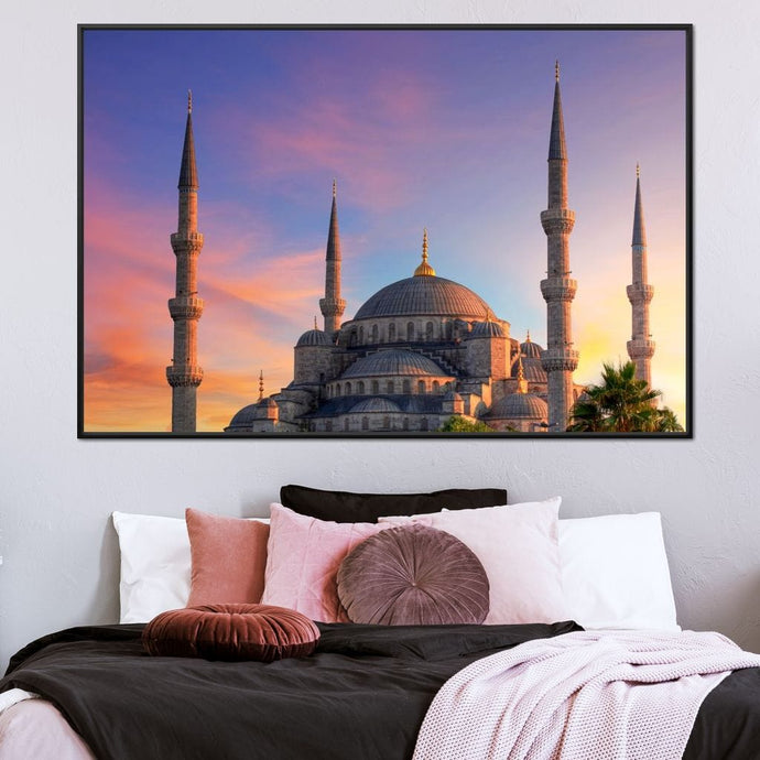 Blue Mosque of Istanbul Multi Panel Canvas Wall Art - NicheCanvas