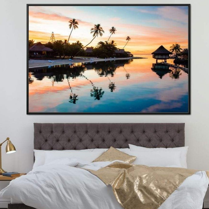 French Polynesia Huge Floating Frame