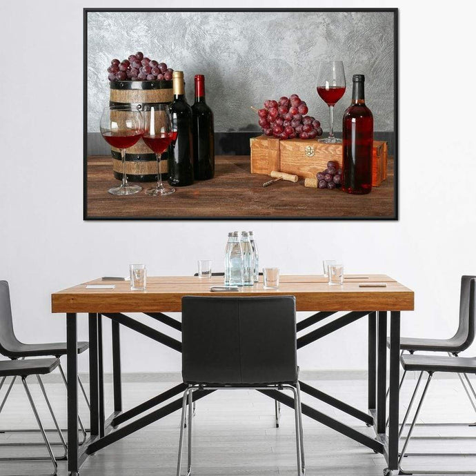 Red Wine Table - NicheCanvas