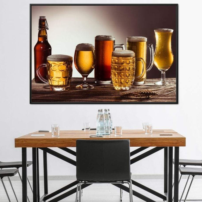 Beer Types Multi Panel Canvas Wall Art - NicheCanvas