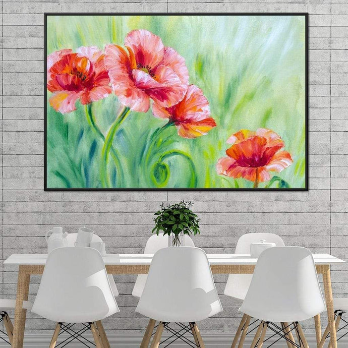 Summer Poppies Huge Floating Frame