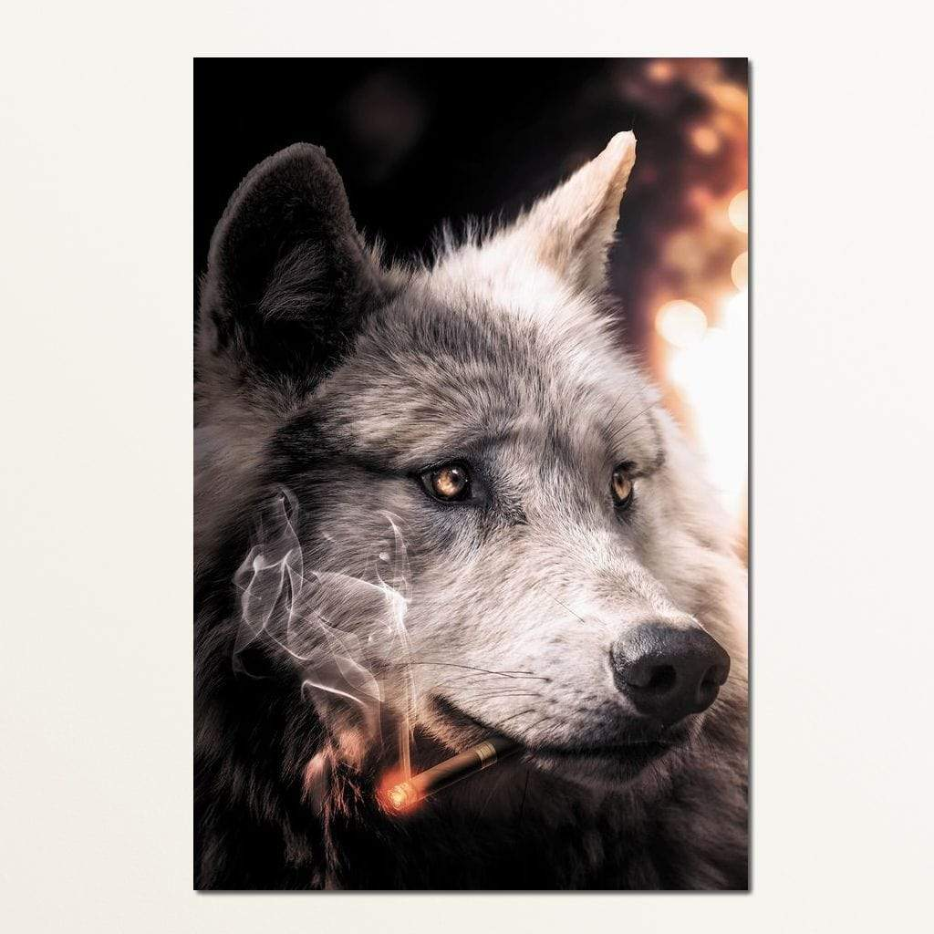Big Bad Wolf - Zenzdesign Multi Panel Canvas Wall Art - NicheCanvas