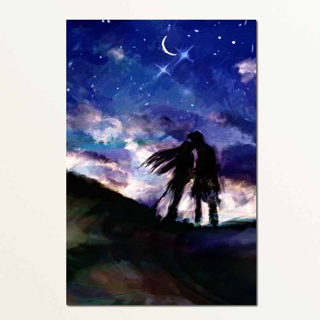 Kissing Under the Stars Multi Panel Canvas Wall Art - NicheCanvas